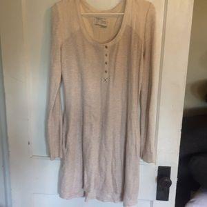 Anthropologie ivory waffle tunic dress M worn 2x
